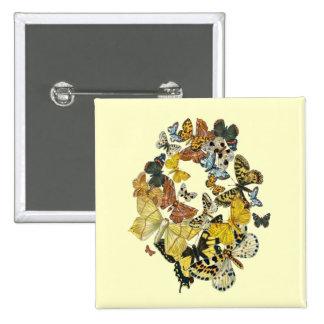 Mariposas Decoupage del vintage Pin