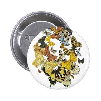 Mariposas Decoupage del vintage Pins