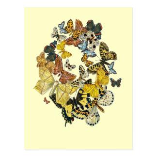 Mariposas Decoupage del vintage Postal