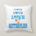 Mariposas del amor del amor almohada