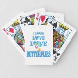 Mariposas del amor del amor cartas de juego