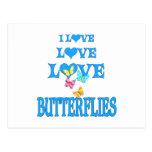 Mariposas del amor del amor tarjeta postal