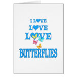Mariposas del amor del amor tarjeton