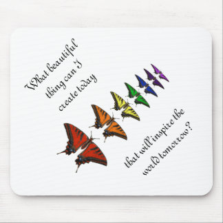 Mariposas del arco iris mouse pad