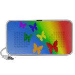 Mariposas del arco iris portátil altavoces