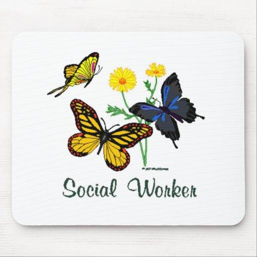 Mariposas del asistente social tapetes de raton