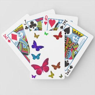 Mariposas del baile barajas de cartas