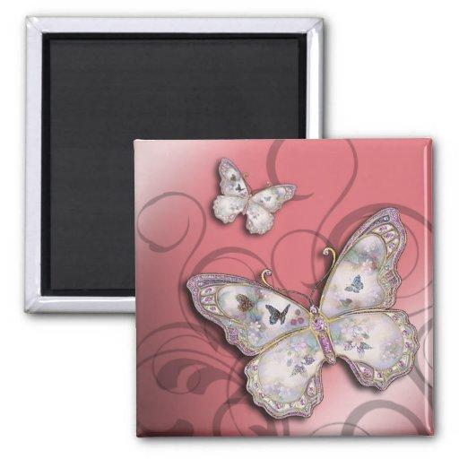 """""""Mariposas del brillo"""" (subiós) por Cheryl Daniels Imán Cuadrado"""
