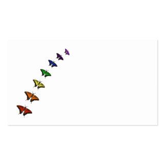 Mariposas del chakra del arco iris tarjetas de visita