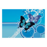 Mariposas del círculo poster