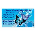 Mariposas del círculo tarjeta de visita