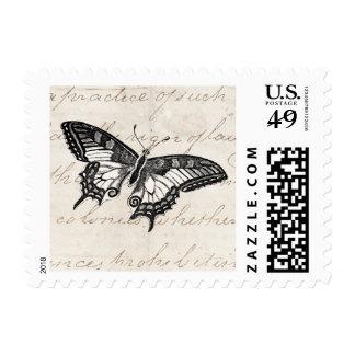 Mariposas del ejemplo 1800's de la mariposa del estampillas