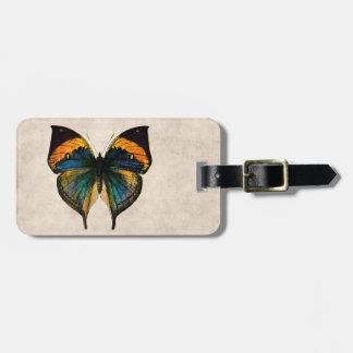 Mariposas del ejemplo 1800's de la mariposa del etiquetas para equipaje