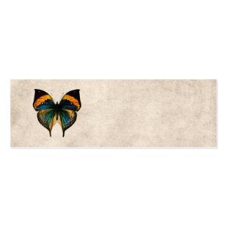 Mariposas del ejemplo 1800's de la mariposa del tarjeta de visita