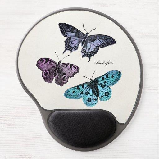 Mariposas del ejemplo 1800's de la mariposa del vi alfombrilla con gel