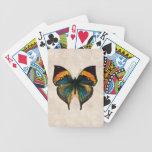Mariposas del ejemplo 1800's de la mariposa del vi baraja cartas de poker