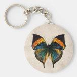 Mariposas del ejemplo 1800's de la mariposa del vi llaveros personalizados