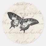 Mariposas del ejemplo 1800's de la mariposa del vi pegatina