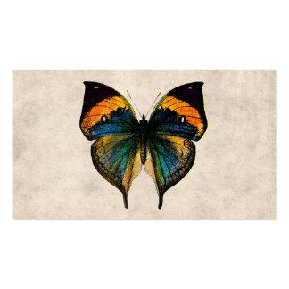 Mariposas del ejemplo 1800's de la mariposa del vi plantilla de tarjeta de negocio