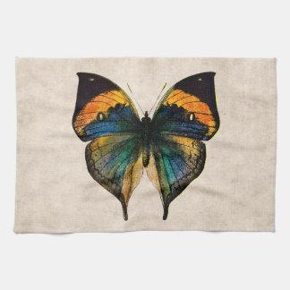 Mariposas del ejemplo 1800's de la mariposa del vi toallas de cocina