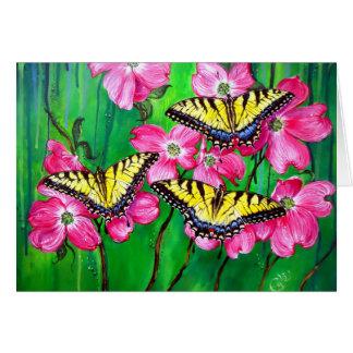 Mariposas del este de Swallowtail del tigre Tarjeta De Felicitación