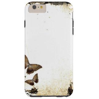 Mariposas del estilo del vintage funda para iPhone 6 plus tough