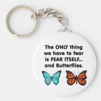Mariposas del miedo sí mismo llavero redondo tipo pin