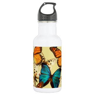 Mariposas del naranja y de la turquesa; Modelo de