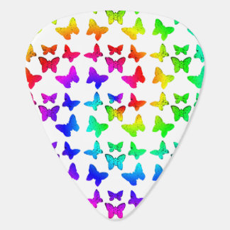 Mariposas del remolino del arco iris púa de guitarra