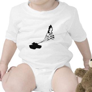Mariposas del tanque trajes de bebé