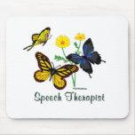 Mariposas del terapeuta de discurso tapetes de ratones