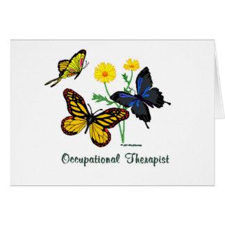 Mariposas del terapeuta profesional tarjeta de felicitación