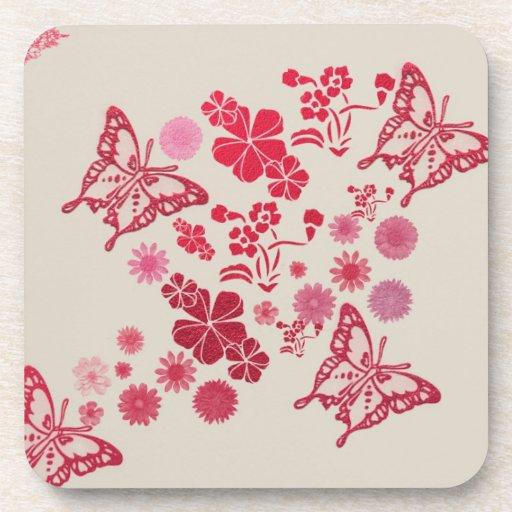 Mariposas del terciopelo posavaso