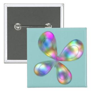 Mariposas del tono de la joya pin cuadrada 5 cm