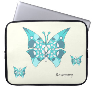 Mariposas del trullo en la manga de marfil 15-17 d funda computadora
