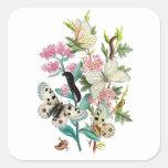 Mariposas del verano pegatinas cuadradas personalizadas