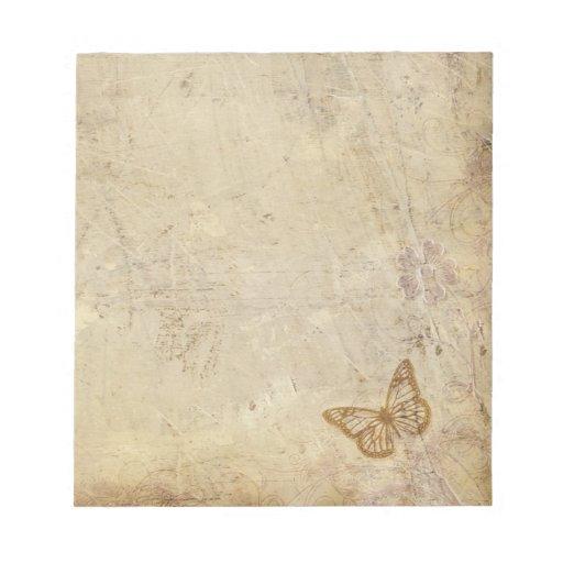 Mariposas del vintage bloc de notas