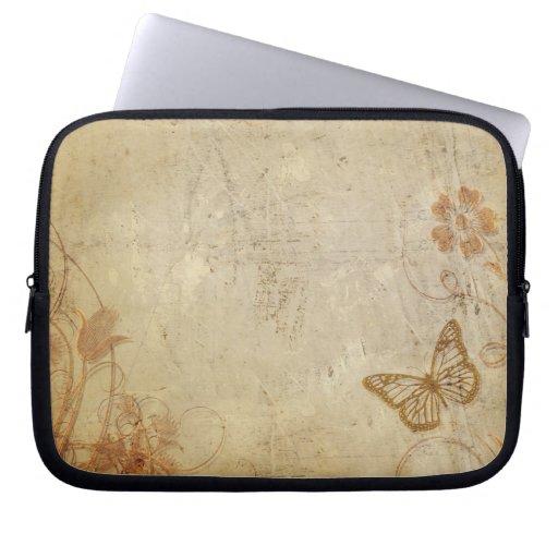 Mariposas del vintage fundas portátiles