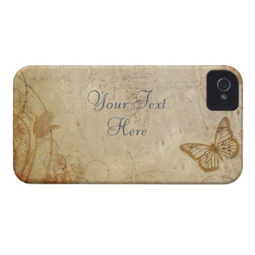 Mariposas del vintage iPhone 4 carcasas