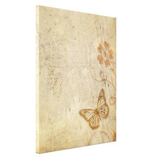 Mariposas del vintage impresion en lona