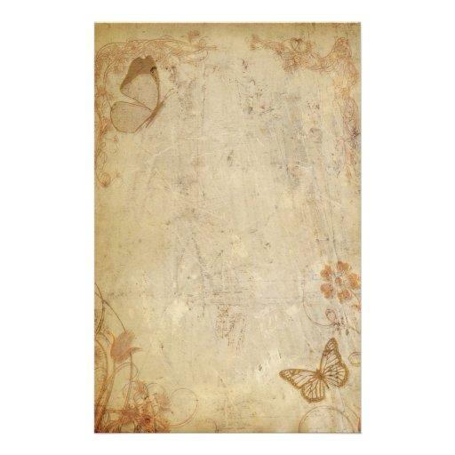 Mariposas del vintage papelería personalizada