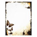 Mariposas del vintage plantillas de membrete
