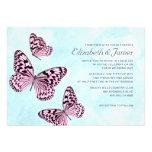 Mariposas del vintage que casan invitaciones invitacion personalizada