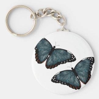 Mariposas del vuelo llavero personalizado