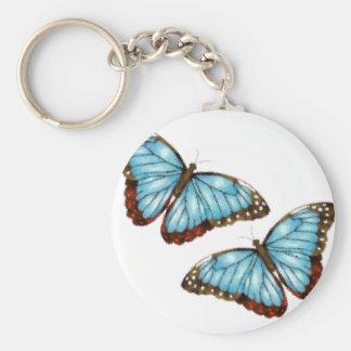 Mariposas del vuelo llaveros personalizados