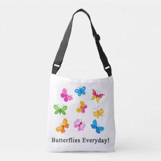 Mariposas diarias bolsa cruzada