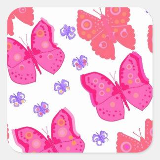 mariposas dig2.jpg pegatina cuadrada