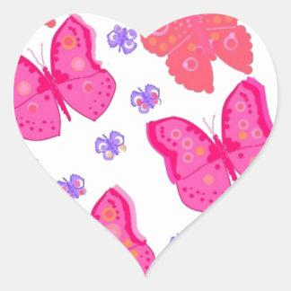 mariposas dig2.jpg pegatina en forma de corazón