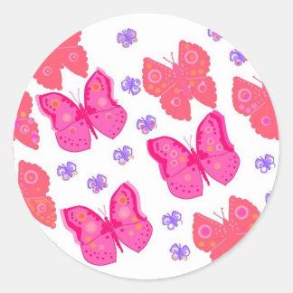 mariposas dig2.jpg pegatina redonda