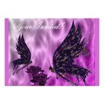 Mariposas e invitación de los claveles